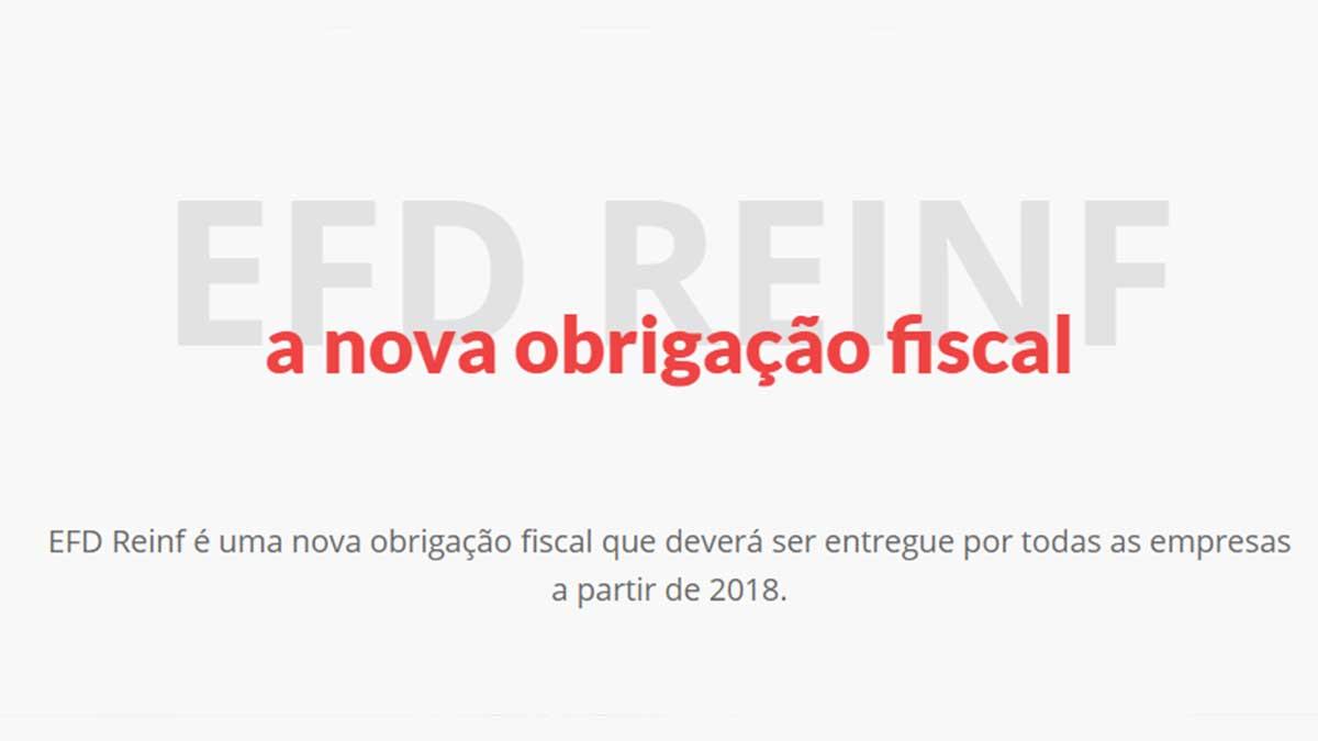 EFD Reinf novas obrigações